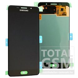 Samsung A510 Galaxy A5 (2016) Fekete LCD Kijelző Érintőplexi Gyári