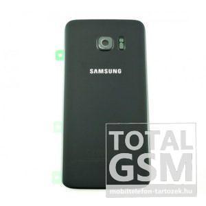 Samsung G935 Galaxy S7 Edge Fekete Gyári Akkufedél Hátlap