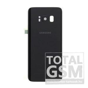 Samsung G955 Galaxy S8 Plus Fekete Gyári Akkufedél Hátlap