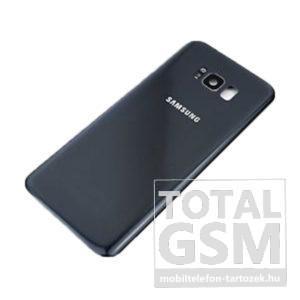 SamsungG955 Galaxy S8 Plus Fekete Gyári Akkufedél Hátlap Bontott