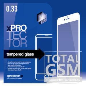 XPRO Apple iPhone 7 Plus / 8 Plus Tempered Glass 0.33 Silicone 3D White (FG) kijelzővédő