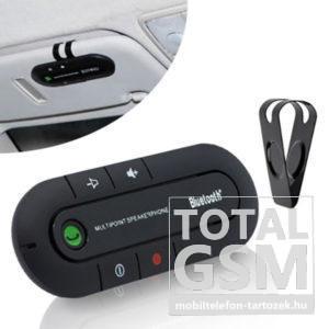 Multipoint Autós Bluetooth Kihangosító Napellenzőre Fekete