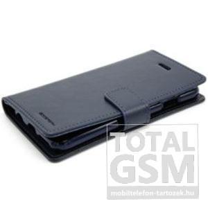 Huawei P9 Lite Fekete Mercury Blue Moon Csatos Flip Notesz Tok