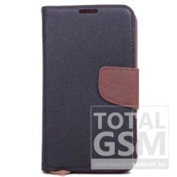 Samsung J530 Galaxy J5 (2017) Fekete-Barna Csatos Notesz Bőr Flip Tok