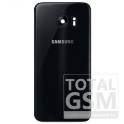 SamsungG935 Galaxy S7 Edge Fekete Gyári Akkufedél Hátlap Bontott