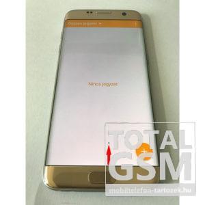 Samsung S7 Edge G935 Lcd +Érintőplexi+Keret Arany Gyári Bontott