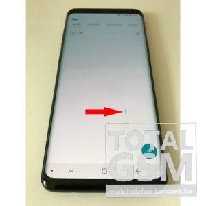 Samsung G965 Galaxy S9 Plus Lcd Kijelző+Közép keret Fekete Gyári Bontott