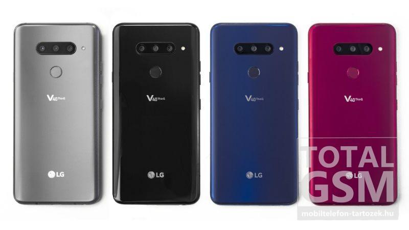 LG V40 Thinq Új Kártyafüggetlen Mobiltelefon www.mobiltelefon-tartozek.hu