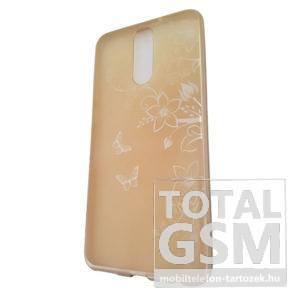 Huawei Mate 10 Lite Arany Pillangó Mintás Szilikon Tok