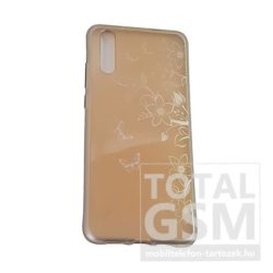 Huawei P20 Arany Pillangó Mintás Szilikon Tok