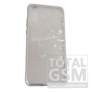 Huawei P20 Ezüst Pillangó Mintás Szilikon Tok