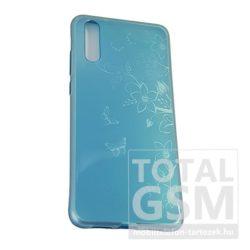 Huawei P20 Kék Pillangó Mintás Szilikon Tok
