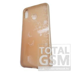 Huawei P20 Lite Arany Pillangó Mintás Szilikon Tok