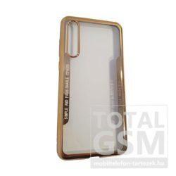 Huawei P20 Pro Arany Króm Szélű Átlátszó Szilikon Tok