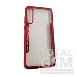 Huawei P20 Pro Piros Króm Szélű Átlátszó Szilikon Tok