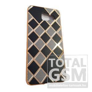 Samsung A310 Galaxy A3 (2016) Arany Keretes Fekete Csíkos Szilikon Tok