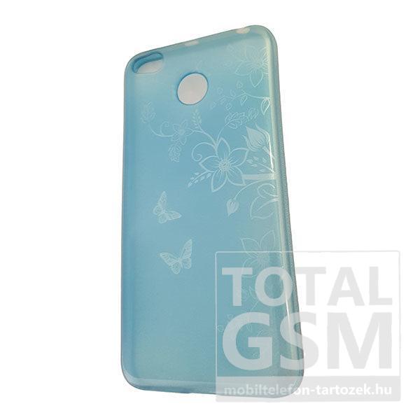 Samsung A320 Galaxy A3 2017 Kék Pillangó Mintás Szilikon Tok