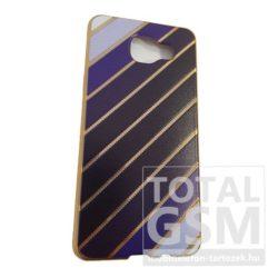 Samsung A510 Galaxy A5 (2016) Arany Keretes Kék Mintás Szilikon Tok