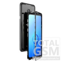 Samsung G965F Galaxy S9 Plus Fekete Aluminium Keretes Mágneses Plexi Tok