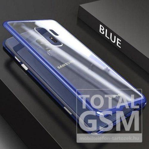 Samsung G965F Galaxy S9 Plus Kék Aluminium Keretes Mágneses Plexi Tok