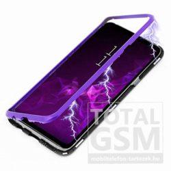 Samsung G965F Galaxy S9 Plus Lila Aluminium Keretes Mágneses Plexi Tok