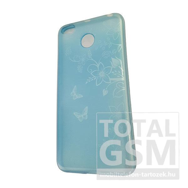 Xiaomi Redmi 4X Kék Pillangó Mintás Szilikon Tok
