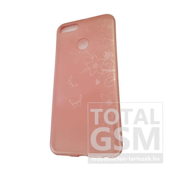 Xiaomi Redmi 5X Rose Gold Pillangó Mintás Szilikon Tok