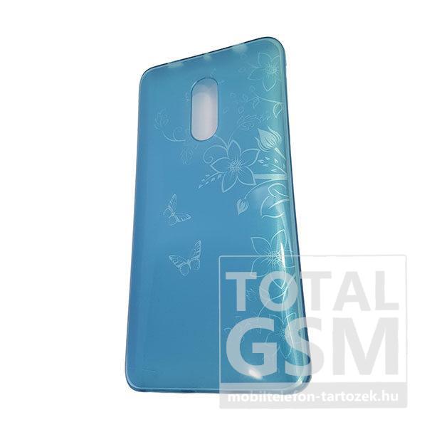 Xiaomi Redmi Note 4X Kék Pillangó Mintás Szilikon Tok