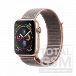 Apple Watch S4 44mm Aranyszínű alumíniumtok rózsakvarcszínű sportpánttal MU6G2FD/A