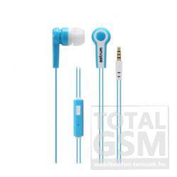 Astrum EB230 univerzális 3,5mm jack fehér-kék sztereó headset mikrofonnal, slim kábellel
