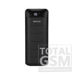 Astrum PB130 V2 gumírozott külső akkumulátor 13000mAh fekete színű