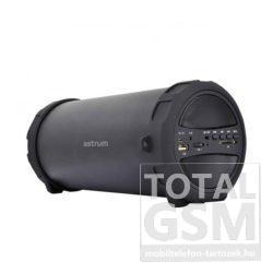 Astrum SM300 hordozható bluetooth hangszóró FM rádióval fekete színű