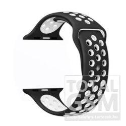 Apple Watch 42mm Fekete-Fehér Szilikon Óraszíj