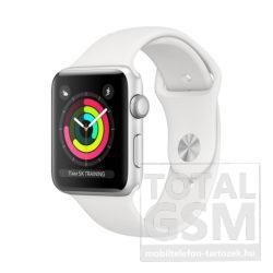 Apple Watch Series 3 8GB 42mm Ezüstszínű alumíniumtok fehér sportszíjjal