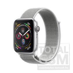 Apple Watch Series 4 40mm Ezüstszínű alumíniumtok kagylófehér sportpánttal MU652FD/A