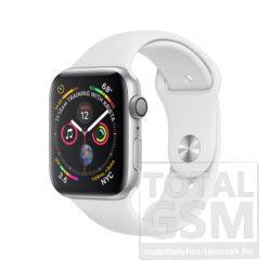 Apple Watch Series 4 GPS 40mm Ezüstszínű alumíniumtok fehér sportszíjjal