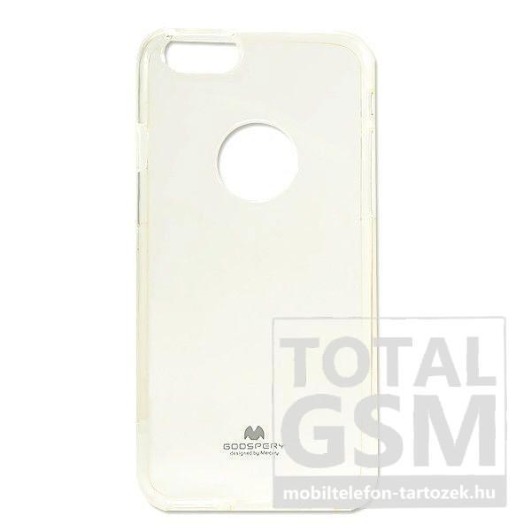 064c7e0d0bd0 Apple iPhone 7 Plus / 8 Plus Mercury Jelly Átlátszó Szilikon Tok Logó  Kivágás