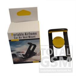 K38 Sárga Szellőzőrácsra Rögzíthető Autós Telefontartó