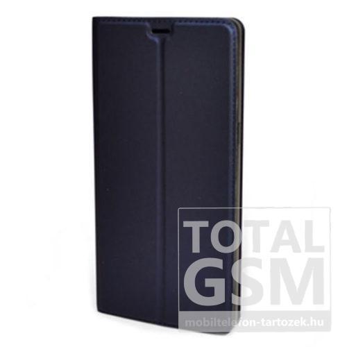 Samsung G960 Galaxy S9 Sötétkék Mágneses Notesz Flip Tok