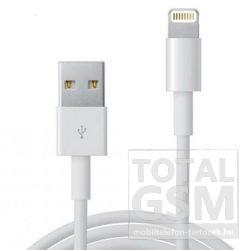 Apple iPhone 5 / 5S / 5C / SE / 6 / 6 Plus / 7 / 7 Plus Utángyártott Adatkábel Fehér