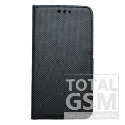Huawei P8 Lite Fekete Kockás Oldalra Nyíló Flip Tok