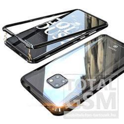 Huawei Mate 20 Fekete Aluminium Keretes Mágneses Plexi Tok
