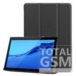 """Huawei MediaPad T5 10"""" Fekete Oldalra Nyíló Tablet Flip Tok"""