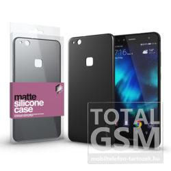 Huawei P10 Lite Fekete Matt Szilikon Tok