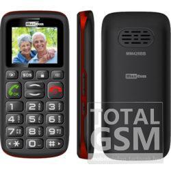 Maxcom MM428BB Dual Sim Fekete-Piros Mobiltelefon