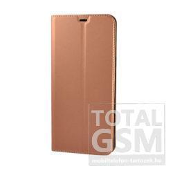 Huawei P Smart (2019) Rose Gold Hajtogatós Mágneses Notesz Flip Tok