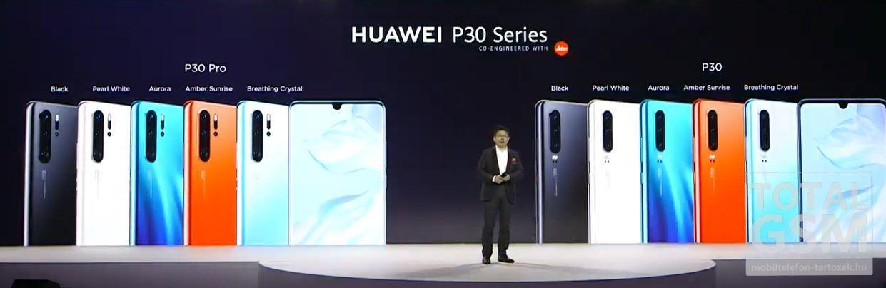 Huawei P30 és P30 Pro Új Kártyafüggetlen Mobiltelefon www.mobiltelefon-tartozek.hu
