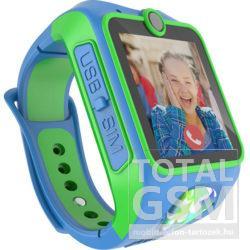 MyKi Junior 3G gyerekóra kétirányú videóhívással Kék-Zöld