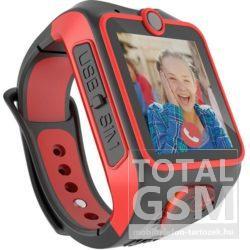MyKi Junior 3G gyerekóra kétirányú videóhívással Piros-Fekete