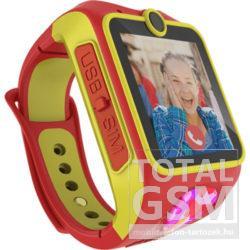 MyKi Junior 3G gyerekóra kétirányú videóhívással Piros-Sárga